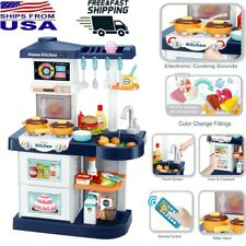 Kids Kitchen Cooking Playset Running Water Sound Light Pretend Role Play Toy RC