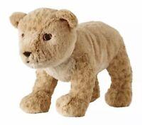 IKEA Djungelskog Lion Cub Plush Stuffed Animal Toy SOFT Cheeky Tan Brown Lovey