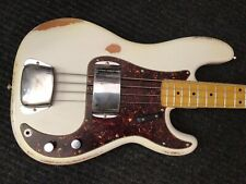 """Fender Precision Bass """"1963"""" Olympic White **RELIC** """"Hot Rod""""!!"""