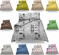 Duvet Cover and Pillowcase Set Quilt Bedding Set With Pillow Cases Bed Printed
