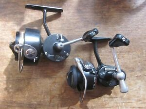 2 VERY NICE LOOKING/WORKING SMALL MITCHELL SPINNING REELS-1 304 & 1 308A-FRANCE!