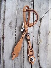 Headstall - One Ear Scalloped Floral Cheek