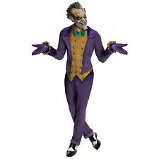 Joker Costume Adult Batman Arkham City Superhero Villain Halloween Fancy Dress