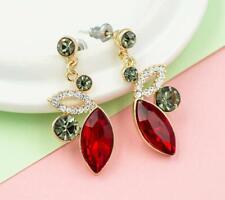 Fashion Jewel New Betsey Johnson rare Alloy Rhinestone crystal red drop Earring