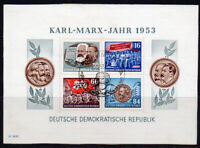 East Germany Miniature Sheet of Stamps c1953 Fine Used on Piece (8093)