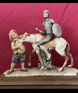 RARE REDAELLI Fine Art Sculpture Collectable; Don Quixote, Horse, & Sancho Panza
