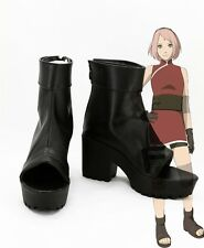 Japan Naruto Cosplay Shoes Haruno Sakura Task Anime Cos Boots Tailor Made