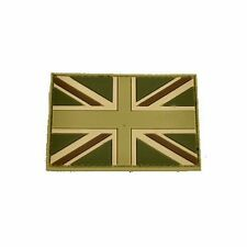 Subdued Tan Green and Brown Self Adhesive Tactical UK Polymer Flag 2x3in