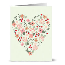 24 Thank You Note Cards - Heartful - Gray Envs