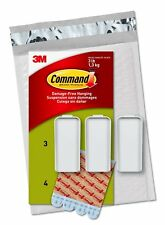 Command Canvas Hanger, Large, White, 3-Hangers 4-Strips (Ph044-3Na) - Easy to