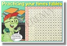 Times Table Chart - NEW Classroom Math POSTER