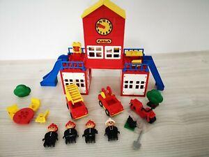 Duplo Sammlung 2658 Fire Station Feuerwehr Hauptquartier alt Figuren Komplett kg