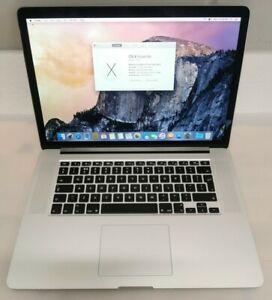 15-inch Apple MacBook Pro Retina 2.4GHz i7 8GB 256GB SSD A1398 Early 2013