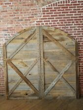Reclaimed Barn Wood Sliding Arch Top Barn Doors
