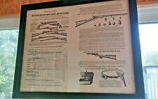 Antique Colts Patent Rifles Carbines Shotguns Pistols Price List Framed 1944 USA