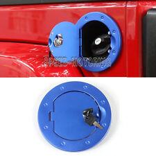 Locking Fuel Tank Cover Gas Lid Filler Cap fit For Jeep Wrangler JK 07-16 Blue