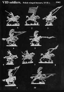 VID soldiers F002 - Flat tin soldiers - Polish winged hussars, 17 c.