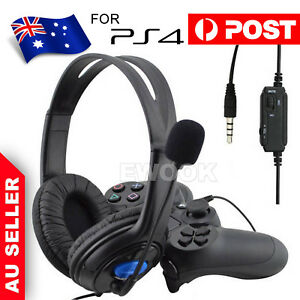 Gaming Headset Headphone with Microphone Volume Wired for Sony PS4 PlayStation 4