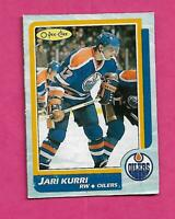 RARE 1986-87 OPC # H OILERS JARI KURRI  BOX BOTTOM CARD (INV# C4162)