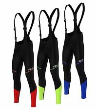FDX Mens Elite Soft Shell Bib Tights Thermal ColdWear Windstopper Cycling Tights