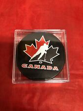 TEAM CANADA Hockey Team Puck in Case Souvenir NEW OFFICIAL made in Slovakia