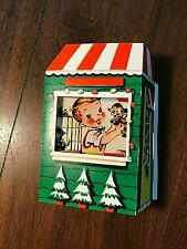"""Vintage 50's Christmas Pop-up Card Pet Store Easy Assembly 6""""x6"""" Excellent Cond"""