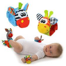 New Baby Soft Handbells Hand Wrist Strap Rattles Animal Socks Baby Toys A^^