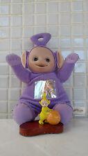 Tinky Winky Purple Plush Doll Laa Laa Yellow Wood Base Lot Teletubbie Teletubby
