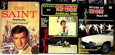 The Saint - 3 British Annuals UK HB Roger Moore Ian Ogilvy G+ 1968, 1979-1980