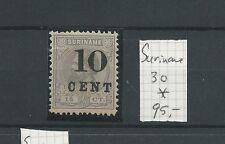 SURINAME 30 Hulpuitgifte 1898 LUXE  MH/ongebr  CV 90 €