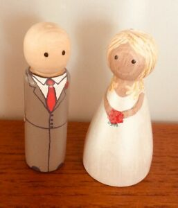Handmade 9cm Personalised Bride And Groom Priced For Both.