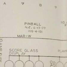 "Stern ""PINBALL"" Pinball Machine Schematics-That's Right, it's Named PINBALL 1977"