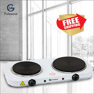 Electric Portable Hot Plate Cooking Cooker Boiling Ring Hob Stove Double 2500W