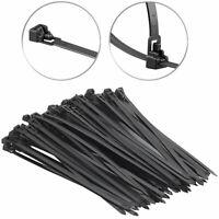 2X Kabelbinder INDUSTRIEQUALITaeT Kabelbinder:300x4mm Farbe:schwarz Menge:50 6A