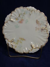 Bawo & Dotter Elite Works Cabinet Plate - Limoges - Pink & Blue Daisies