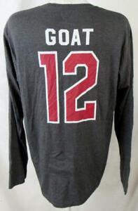 "Tampa Bay Buccaneers Men Large Screened Long Sleeve ""GOAT"" #12 T-shirt ATPA 135"