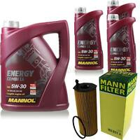 Ölwechsel Set 8L MANNOL Energy Combi LL 5W-30 + MANN Ölfilter Service 10049956