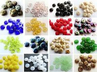 4mm 6mm 8mm 9mm 10mm CZECH GLASS FLAT ROUND/DISC/RONDELLE/SPACER BEADS