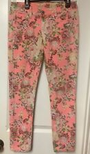 Red Camel Premium Denim Floral Stretch Low Rise Skinny Jeans Size 3