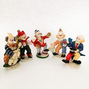 Lot Of 5 Resin Clowns