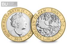 2018 Isle of Man Hunt the Wren CERTIFIED BU £2 [Ref: 810H]