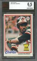 1978 topps #36 EDDIE MURRAY baltimore orioles rookie card BGS BVG 6.5