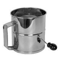 """8 Cup Flour Sifter Stainless Steel - 6.8"""" x 6.3"""" x 8.8"""""""