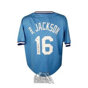 Bo Jackson Autographed Kansas City Royals Custom Blue Baseball Jersey - BAS COA