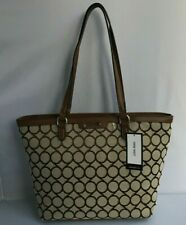 Nine West Brown Multi Purse Handbag Fabrik/Faux Leather Shoulder Tote Bag