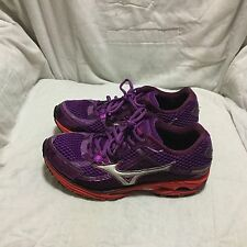 MIZUNO WAVE RIDER 15 RUNNING SHOES - PURPLE RED ( SIZE 8.5 ) WOMEN`S RARE !!