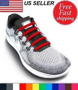 No Tie Shoelaces - Elastic Shoe Laces - NoTie Silicone Rubber Lace - 16 Pieces
