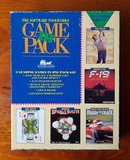 """Vintage Software Toolworks 5 Games Pack IBM DOS PC 3.5"""" Disks Flight Golf Race"""