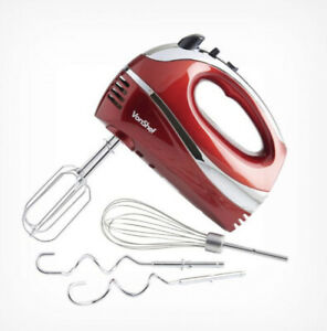 300W Red 5 Speed Hand Mixer-Kitchen Electric Appliance Professional Baking