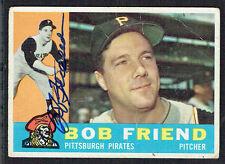 Bob Friend #437 signed autograph auto 1960 Topps Baseball Trading Card
